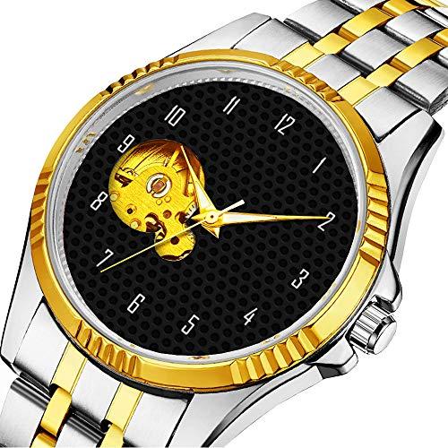 Mechanische Uhr Herrenuhr Klassische mechanische Uhr Timeless Design Mechanic (Gold) 785.Metal Mesh 02