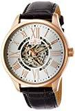 Invicta Men's Vintage 45mm Rose Gold Tone Stainless Steel Automatic Watch with Leather Band, Brown/Rose Gold (Model: 22569)