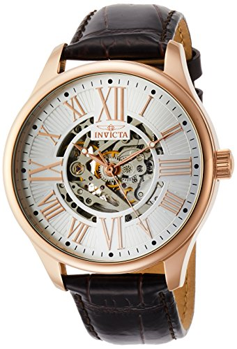 Invicta Men's 22569 Reloj con pantalla analógica, automático, marrón, para hombres.