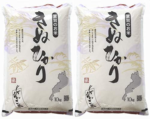 【精米】キヌヒカリ 精米済み白米20kg【令和元年・滋賀県産】
