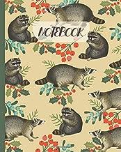 Notebook: Cute Raccoons Drawing - Lined Notebook, Diary, Track, Log & Journal - Gift Idea for Boys Girls Teens Men Women (8
