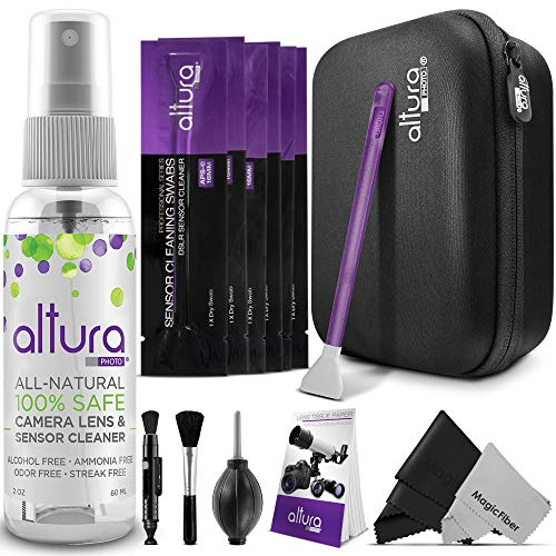 Altura Photo Professional Camera Cleaning Kit APS-C DSLR & Mirrorless Cameras - Camera Lens Cleaner w/Sensor Cleaning Swabs & Case, Works as Camera Lens Cleaning Kit, Camera Cleaner, Sensor Cleaner