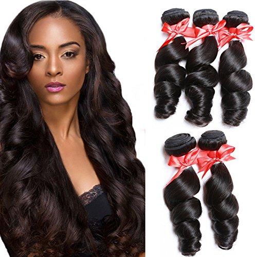Meylee Postiches VIEN d' malaisien humain vierge Remy Loose Wave cheveux rallonges à bandes cousues/3 longueurs mélangent 3 faisceaux/Pack , 20 22 24