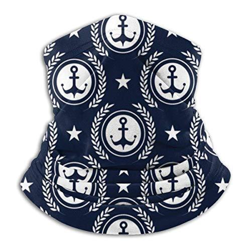 RuiShuoPiCao Marítimo Mood Patrón Ancla Unisex sin costuras Rave Bandana Cuello Polaina Tubo Máscara Headwear Máscara de Motocicleta para Mujeres Hombres Bufanda facial