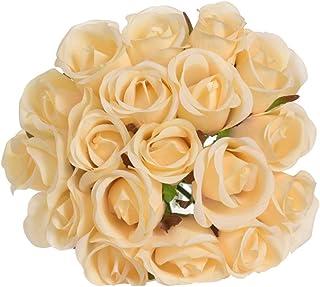 Farantasy造花ファッション美しい現実的な18ヘッド人工偽のバラの花のブライダルブーケ結婚式の家の装飾ホームの装飾の人工花