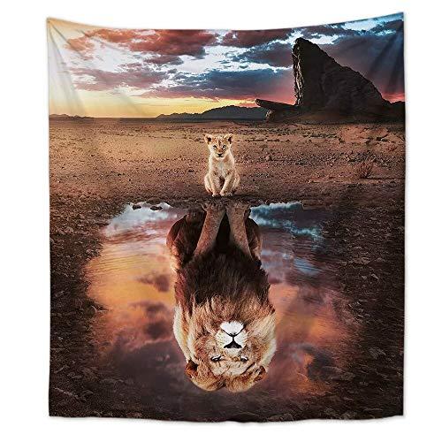 KHKJ INS Nordic Wind Wolf Tapiz Colgante de Pared hogar Sala de Estar Dibujos Animados Animal Tela Colgante Pintura decoración Manta A1 200x150cm