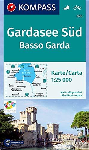 KOMPASS Wanderkarte Gardasee Süd, Basso Garda: Wanderkarte mit Radwegen. GPS-genau. 1:25000 (KOMPASS-Wanderkarten, Band 695)