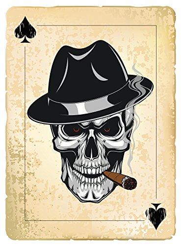 Ace of Spades Aufkleber Sticker Schädel Skull Spielkarte