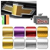 3D Carbon Fiber Silver Chevy Emblem Chrome Pattern Vinyl Wrap Sticker Decal Film Sheet Free Tool Kit
