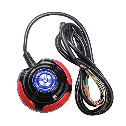 Segotep PC Power Button On/Off Reset HDD Button 5.3FT Extension Cables for Desktop PC Computer Case Power Supply with Blue LED Lights Red