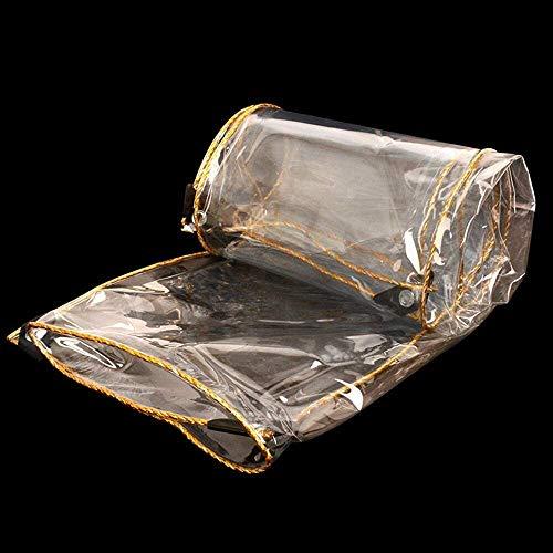 Ashle Lona Gruesa Claro Lona Heavy Duty PVC Transparente al Aire Libre Cubiertas de plástico Prueba de Lluvia con los ojales-2m * 3m, Tamaño Nombre: 1m * 2m (Size : 3m*4m)