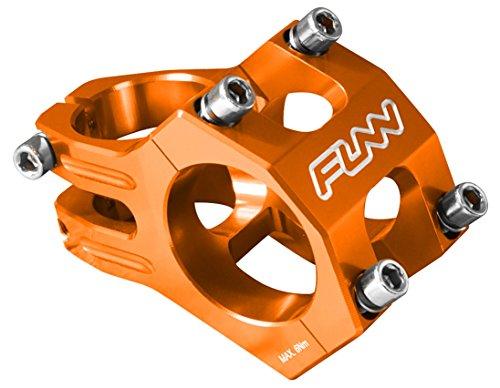 Funnduro MTB Stem, Bar Clamp 35mm, Ultralight and Tough Alloy stem for Mountain Bike (Length 35mm, Orange)