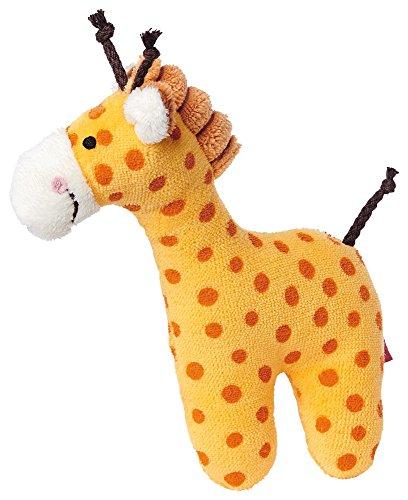 sigikid, Fille et Garçon, Hochet en Tissu Girafe, Orange, 41170