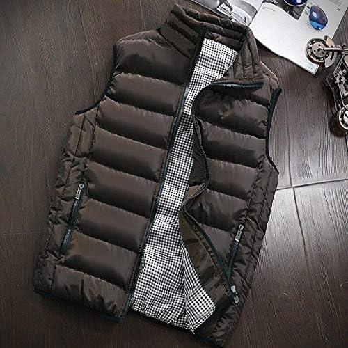 LYLY Vest Women Autumn Winter Vest Men Casual Outwear Warm Sleeveless Jackets Male Fashion Waistcoat 5XL Vests Gilet Vest Warm (Color : Brown, Size : XXXL)