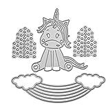 UEB Arcobaleno e Animale Fustelle per Scrapbooking Cutting Die per DIY Scrapbooking Album Foto Segnalibro Goffratura Craft Stencil per Biglietti