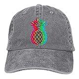 AINCIY Moda Algodón Denim Béisbol Piña Brillante Clásico Sombrero de Papá Ajustable