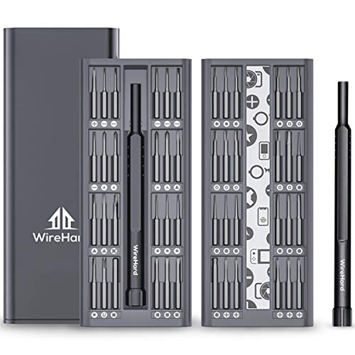 WIREHARD 49 in 1 Mini Precision Repair Tool Kit - Extra Magnetic s2 Steel Specialty FOR iPhone 11, X, 8 & below - Smart Phone - MacBook - Computer - Tablet - Xbox - PlayStation - Drone - Toys, etc