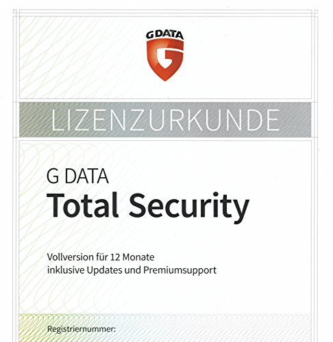 G Data Total Protection 1PC PKC (Gültig für 2017/2018)
