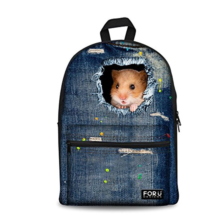 Bigcardesigns Sweet Pet Hamsters Bags Designer Schoolbag backpack Girls