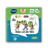 VTech- Lernstufe 2-Reise um Die Welt 3D Libro niños, Contenido de Aprendizaje: Resolver Problemas, lógica, países, culturas, Medios de Transporte, preparaciones de Viaje. (80-462404)