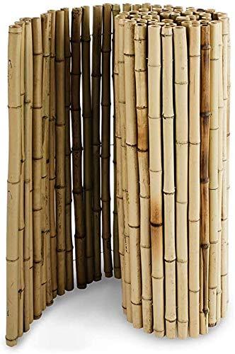 KANULAN Balcón Pantalla de privacidad Decorar Terrazas Casas Jardines Cerca de bambú 100% naturalCerca de Jardín