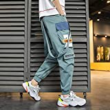 Dongwall Monos De Hombre Pantalones Reflectantes De Hip Hop para Hombre Streetwear Jogger Pantalones De Monos...