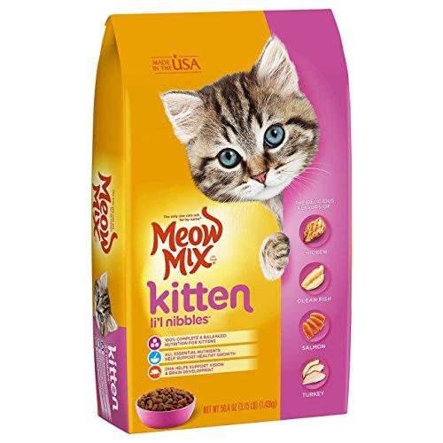 Meow Mix Kitten Li'L Nibbles Dry Cat Food, 3.15 Pounds (Pack...