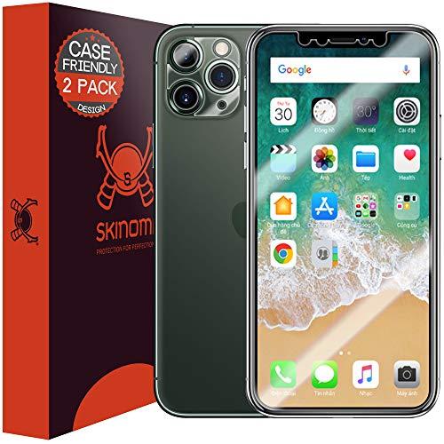 Skinomi TechSkin - Schutzfolie geeignet für iPhone 11 Pro, hüllenkompatibel, deckt den Bildschirm, 2er Pack