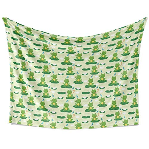 """Frogs Weighted Blanket Fall Winter and Spring Ultra Soft and Fluffy Anti-Pilling Flannel Fleece Perfect for Bed, Sofa, Couch,Gift for Adults Men Women(Size 80"""" x60)"""