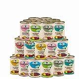 Landfleisch 30 x 400 g Pur Dosen | Nassfutter | aus 13 Sorten frei wählbar | + MIOMERA gratis Snack