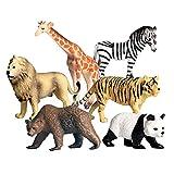 FLORMOON 6 Piezas pequeñas Figuras de Animales Salvajes Realistic Juguete Animal Animal Figure Early Educational Toys Science Project Christmas Birthday Gift for Kids
