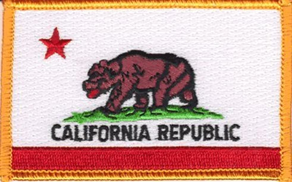California iron-on embroidered patch