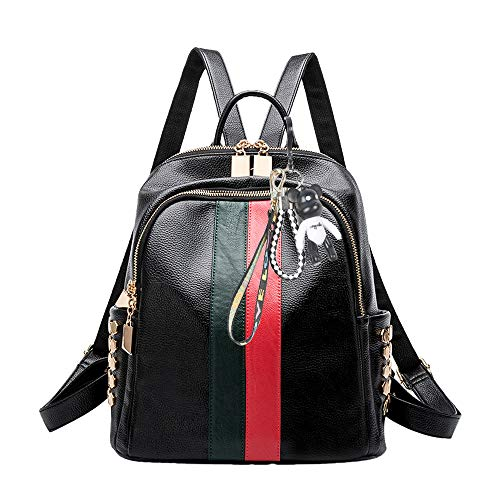 Tisdaini® Bolsos Mochila Mujer moda casual viaje Retro Bolsos de mano mochila (Negro a)