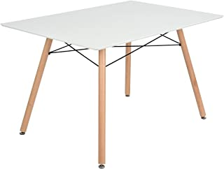 mid century modern dining table white