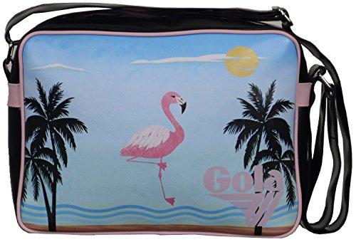Gola Classics - Midi Redford Miami Beach Organizer borsa unisex adulto, nero/rosa