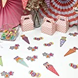 Oblique Unique® Zuckertüte Konfetti 12 Stk. Zuckertüten Schultüten Tisch Dekoration Streu Deko Schuleinführung Einschulung Schulanfang Jungen Mädchen - 3