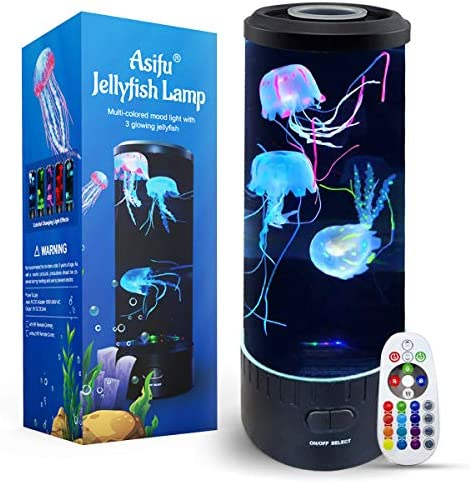 Jellyfish Lava Lamp Electric Cute Dimmable Aquarium LED Mood Color Changing Night Light Gift product image