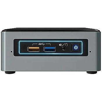 Intel Nuc Mini Komplett PC, Intel Quad Core 4 x 2,30 GHz, 8 GB RAM, 256 GB SSD, USB 3.0, HDMI, VGA, Intel HD Grafik, 4K Auflösung, Windows 10 Pro, 3 Jahre Garantie