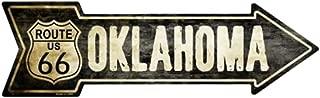 Smart Blonde Outdoor Decor Vintage Route 66 Oklahoma Novelty Metal Arrow Sign A-130
