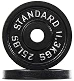 BalanceFrom Cast Iron Olympic 2-Inch Weight Plate, Pair
