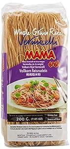 Mama Fideos De Arroz Integral, Estilo Vermicelli 200 g - Lot de 4