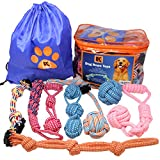 BK PRODUCTS LLC Dog Toys for Large Dogs - 8 Extra Large Dog Rope Toys for Large Breed Puppy and Medium to Large Dogs - Set of Nearly Indestructible Dog Toys for Tug of War, Fetch Play or Teething