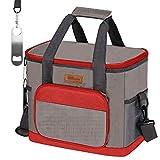 HOMESPON Große isolierte Lunchtasche Kühltasche Wiederverwendbare Thermos-Bento-Behälter für Erwachsene Frauen und Männer Picknick (rot)
