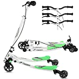 Y Flicker Scooter, 2 Footed 3 Wheels Air Push Y Slicker Foldable Kick Swing Scooter for Kids 5+ (UK STOCK)