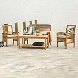 Walker Edison Solid Acacia Wood Patio Coffee Table