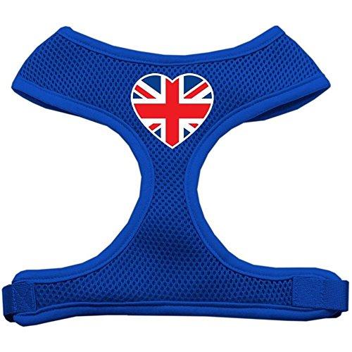 Mirage corazón Bandera Reino Unido Protector de impresión Suave Malla arnés