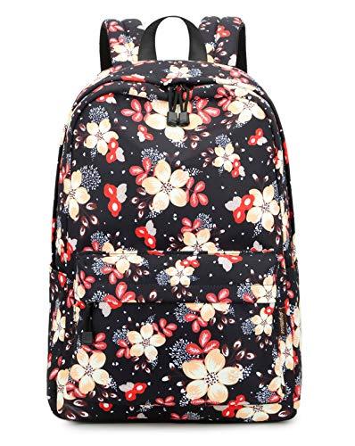 Joymoze Modischer Wasserabweisender Schule Rucksack Lockere Tasche für Jugendliche Mädchen Blume