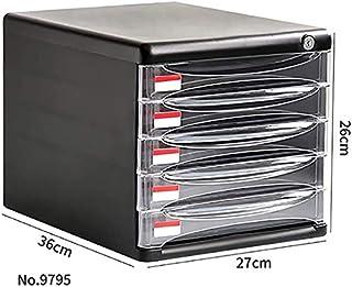 Classeurs WHLONG Fichier Accueil Cabinet Bureau A4 Papier de Bureau Tiroir Dossier Armoire de Rangement Armoire de Rangeme...