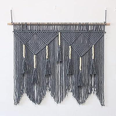 Este gran colgando de la pared de Macrame agregará carácter y encanto a cualquier pared en su casa. Los tapices de Macramé tejidos son increíblemente versátiles, y pueden transformar fácilmente cualquier habitación en un santuario moderno, pero etére...