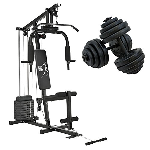 ArtSport Kraftstation Profi Gym 2000 & Kurzhantel 30kg Set 2 in 1